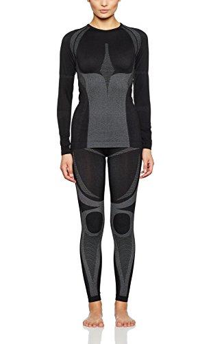 Sport-Profi-Funktionswäsche - Damen Seamless Set 36/38 (Hemd + Hose) von Medico - Hochwertige Thermo- & Funktionsunterwäsche - ohne störende Nähte mit Elastan, hochelastisch - Skiunterwäsche, Motorradunterwäsche, Unterwäsche