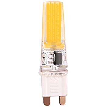 zhuotop regulable luz LED COB G9 0926 bombilla silicona lámpara AC220 V 9 W, 220V Warm White, G9, 9.0 wattsW