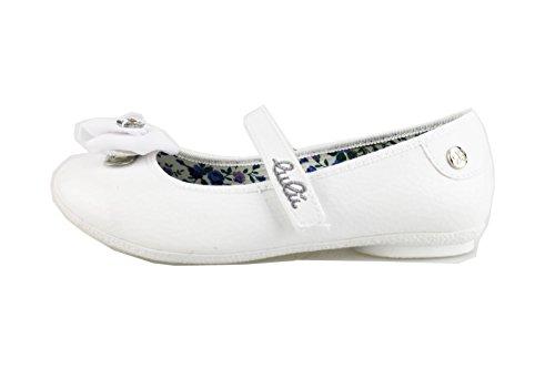 scarpe bambina LULU' 31 EU ballerine bianco vernice / tessuto AG649