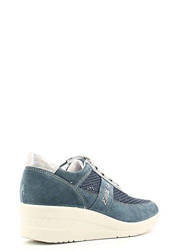 ENVAL , Chaussures de ville à lacets pour femme Bleu - Jeans