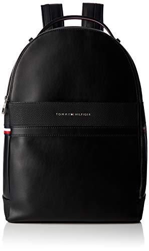 Tommy Hilfiger Herren Th Business Backpack Rucksack, Schwarz (Black) 15x44x31 cm