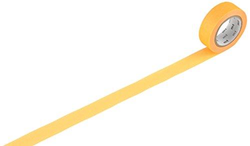 T-MKT1PB-AH Materialband, japanisch, 2 Stück, recyceltes Papier, Klebeband aus Pflanzenfasern, 1000 x 1,5 cm, Orange ()