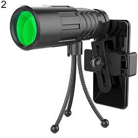 Ebestus - Telescopio monocular monocular Profesional, al Aire Libre, portátil, HD, ángulo Ancho, Verde, película de Enfoque monocular telescópico - 10 x 40 2