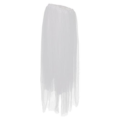 kleid Mutterschaft Fotografie Tutu Tüll Umstandsrock Unterrock Schwangerschafts Kleid - Weiß, wie beschrieben (Mumie Kostüme Für Schwangere Frauen)