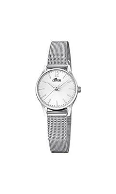 Lotus Watches Reloj Análogo clásico para Mujer de Cuarzo con Correa en Acero Inoxidable 18571/1