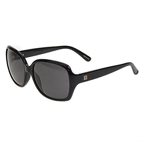Givenchy Ladies Black Shiny Frame Oversize Sunglasses