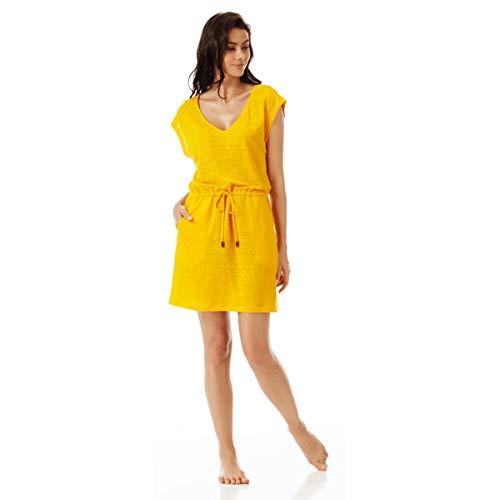 58f45ac7bed1 Vilebrequin - Vestito Corto Donna in Lino Tinta Unita - Mango - XL