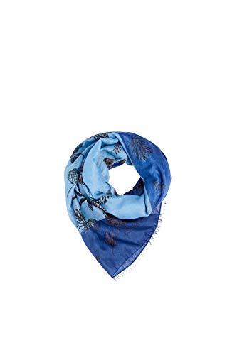 ESPRIT Accessoires Damen 069EA1Q001 Schal, Blau (Blue 430), One Size (Herstellergröße: 1SIZE)