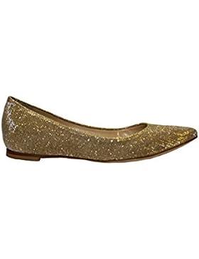 L'Arianna ballerine donna, tomaia in tessuto glitterato.Colore: Oro, Fodera: pelle e tessuto, Suola: cuoio. Tacco...