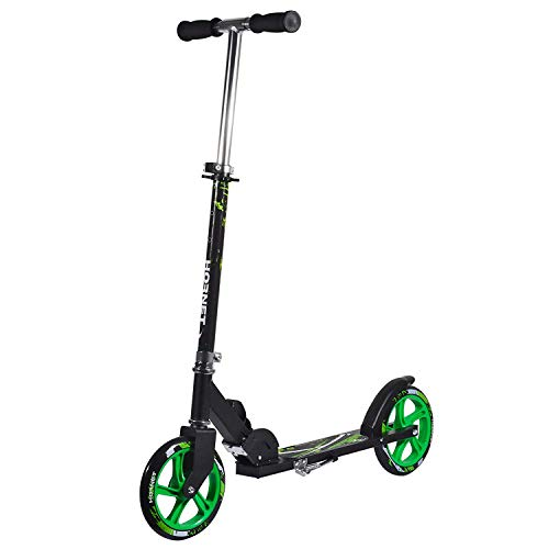 Hornet 14929 - Scooter Roller GS 200, Tret-Roller Big Wheel, neon-gr&uumln