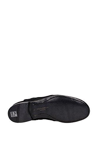 CA6658AF7308B956 Dolce&Gabbana Mocassins Homme Tissu Noir Noir