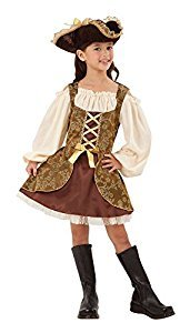 Goldene Piraten-Kostüm - Kinder Kostüm - Large - 134 bis 146cm