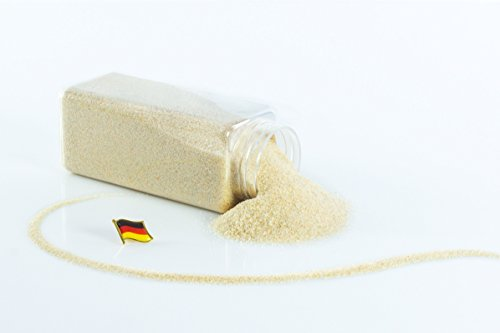 monsterkatz Deko Farbsand/Dekosand TIMON, creme, 0,1-0,5mm, 605ml Dose, Made in Germany - farbiger Deko Sand (0.1% Creme)