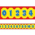 12 metres - Maths Number Line Display Trimmers / Borders by TREND ENTERPRISES INC.