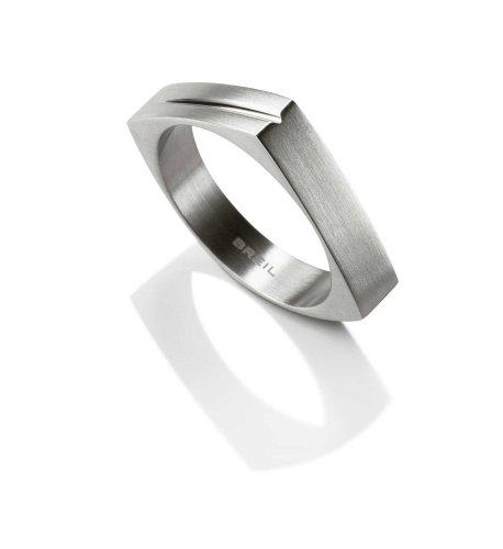 Breil - anello uomo, in acciaio inox, misura 60(19.1)–bj0132