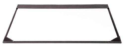 Osco BPUDM1 Luxus Faux Leder, Schreibtischzubehör und Ablage, braun Matt Faux-leder