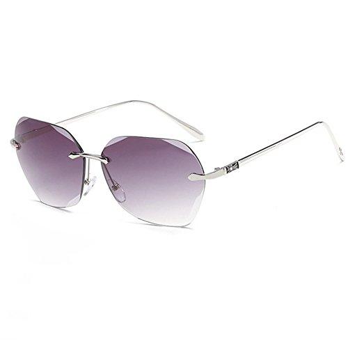 Luziang Europäische und amerikanische Farbfilm Ozean ohne Rahmen Sonnenbrillen Mode Metall Sonnenbrille Dame Trend Sonnenbrillen,Fahren, Reisen, Outdoor-Sport