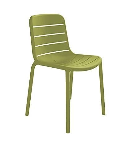 Resol chaise Gina - couleur vert olive, set de 2 unités
