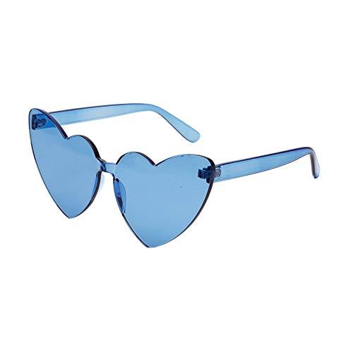 EFINNY Herzförmige randlose Sonnenbrille ein Stück candy Farbe Brillen für Frauen