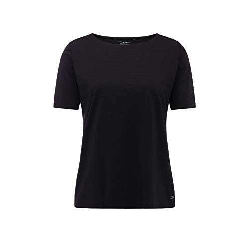 Venice Beach Damen T-Shirt Fina Curvy Fit DSHST 41073 Black 50 (Fit T-shirt Damen Beach)