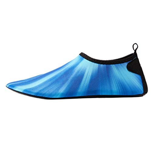 Rosennie Damen Strandschuhe Unisex Schwimmschuhe Socken Badeschuhe Wasserschuhe Aquaschuhe Strandschuhe für Frauen Wasserdicht Schnell Trocknend Aqua Yoga Socken Slip Surfschuhe