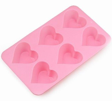 Allforhome 6 Cavities Heart Silicone Cake Baking Mold Cake Pan Muffin Cups Handmade Soap Moulds Biscuit Chocolate Ice Cube Tray DIY Mold