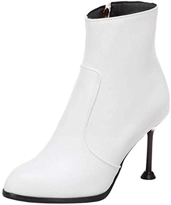 a4dc08cfe0be TAOFFEN Women Fashion Pointed Toe Dress Dress Dress Boots Side Zipper  B07G8DBLHN Parent 086d5a