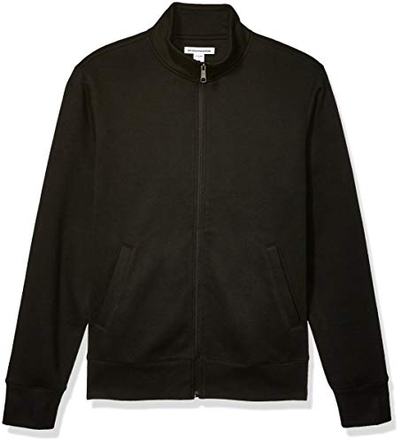 Amazon Essentials Full-Zip Fleece Mock Neck fashion-sweatshirts, Black, Medium