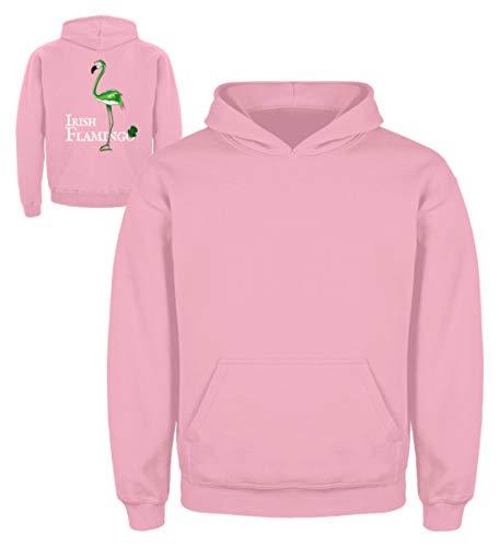 go | Lustiges St Patrick's Day Outfit für (Teil-) irische Flamingo-Liebhaber - Kinder Hoodie -5/6 (110/116)-Baby Pink ()