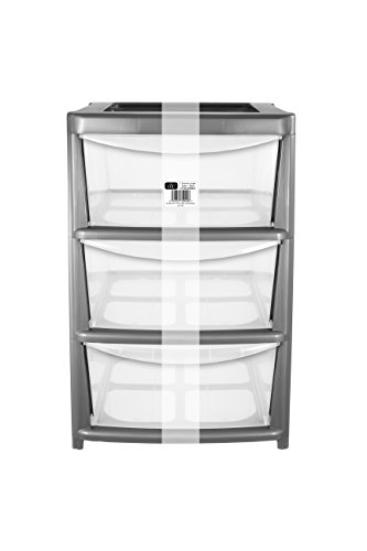 ehc-large-3-drawer-tower-plastic-storage-unit-silver