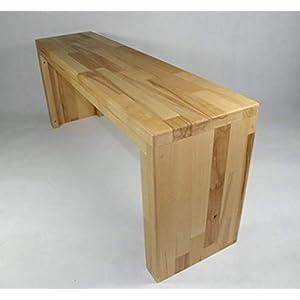 Garderobenbank Buche Holz Handarbeit Holzbank Flurbank Sitzbank Tisch Blumenbank