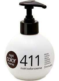 Haarfarbe Ausspülen (Revlon Professional Haarpflege Nutri Color Creme 411 Braun 250 ml)