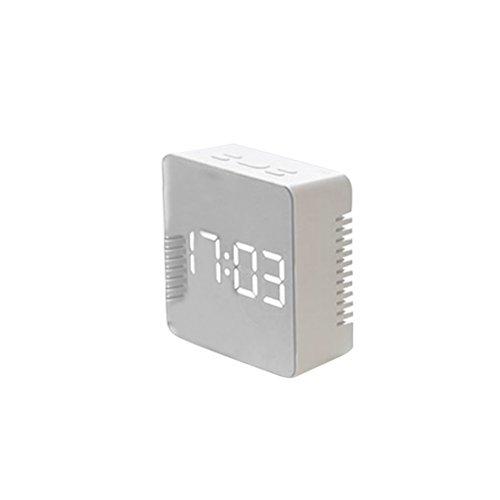 LEDMOMO LED Despertador Digital con espejo con Termómetro de Interio Dos Tipo...