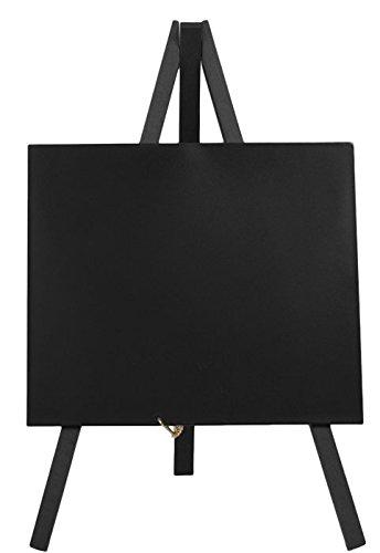 Securit MINI-BL-KR-1 Tisch-Kreidetafel Mini Staffelei, schwarz