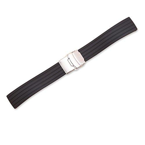d72466a4f2da Ullchro Correa Reloj Calidad Alta Recambios Correa Relojes Caucho Stripe  Pattern - 16mm