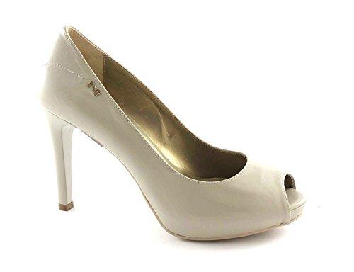 NERO GIARDINI 15381 asparago scarpe donna decolletè spuntato tacco pelle Beige