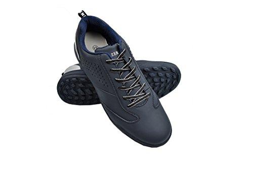 Zerimar Chaussures de Golf pour Hommes   Chaussures de Sport pour Hommes   Chaussures de Sport pour Hommes   Chaussure de Golf en Cuir  Chaussure de Sport   Couleur Bleu Marine Taille 45