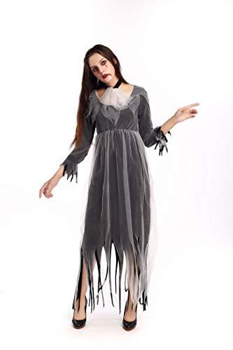 CWZJ Halloween-Kostüm Classic Horror Ghost Bride Zombie-Kostüm Halloween Erwachsene Dame Cosplay Kostümparty Cosplay Kostüm Ball Party Bar Party-Bühne Vampire Devil (Samt Vampir Erwachsene Kostüme Damen)