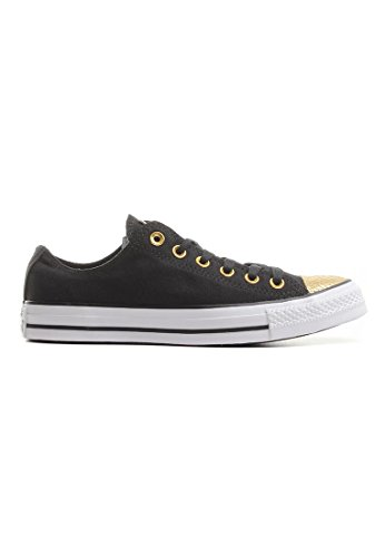 converse chuck taylor all star metallic toecap noir or