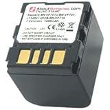 Batterie pour JVC GZ-MG50EX, Haute capacité, 7.2V, 1400mAh, Li-ion