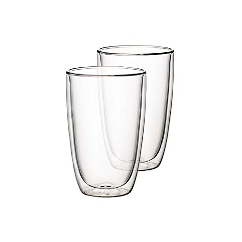 Villeroy & Boch Artesano Hot & Cold Beverages Becher XL, 2er-Set, 450 ml, Borosilikatglas, Klar