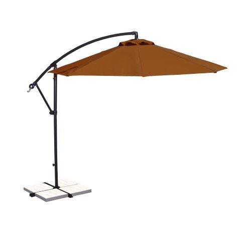 Island Umbrella NU6400TS Santiago Octagonal Cantilever Umbrella, 10', Terra Cotta Sunbrella -