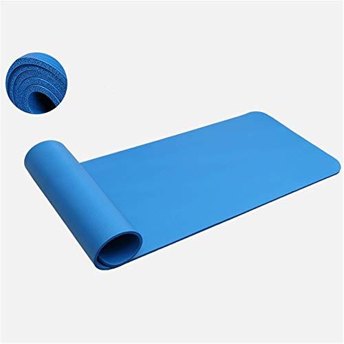 10Mm NBA Fitness Yoga Matte Falten Nbr Pilates Pad Für Frauen rutschfeste Übung Pad Abnehmen Yoga Matte Blau 183X61X1 cm -