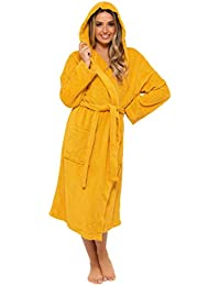 CityComfort Ladies Robe Terry Towelling Cotton Dressing Gown Bathrobe Highly Absorbent Women