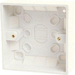 1 Gang Back Box Single Gang Socket Back Box (inside 41mm, outside 44mm) - Single Gang Box