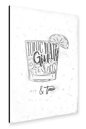 artboxONE Alu-Print 60x40 cm Gin Tonic Cocktail von Künstler Anna Kozlenko