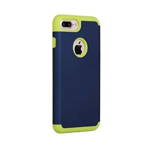 iPhone 7 Plus hüll,Lantier Slim Matt Matt Finish Design Shockproof 2 in 1 Combo Defender Schutz zurück hüll Deckung für Apple iPhone 7 Plus 5,5 Zoll Grau+Hellgrün Navy Blue+Light Green