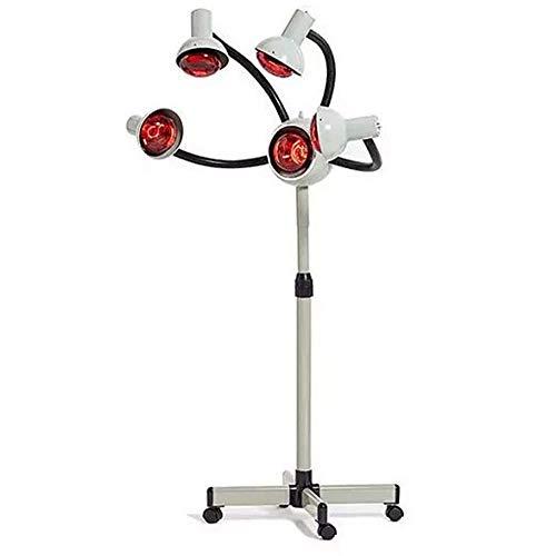 JYSEJ Nagel Staubsauger, 5 Kopf Infrarot-wärmelampe Rot Sonnenlicht Föhn Farbprozessor 750 Watt Professionelle Salon Dauerwelle Haarpflege Ausrüstung mit Vier Rädern Glühbirnen (Weiß)