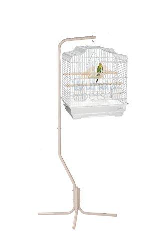 Kleine Finch Feeder (Klein exklusiven weiß Siam Wellensittich Nymphensittiche Finch Vogelkäfig & Weiß C7Ständer)