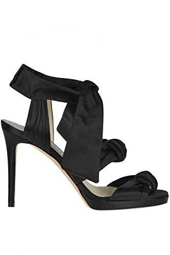 Jimmy Choo &Kris& Satin Sandals Woman Black 36 IT Black Satin Bow Sandals